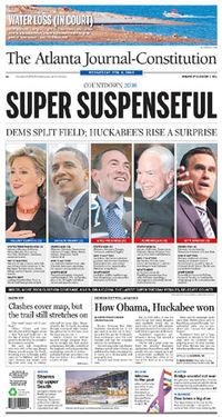 Ajc super tuesday 2008 cover