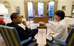 Obama and sen collins