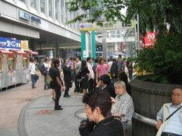 Smokers corner in shibuya