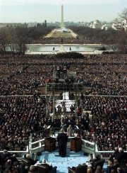 Obama inauguration crowd shot