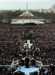Obama inauguration crowd shot