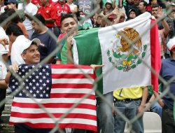 Usa and mexico fans