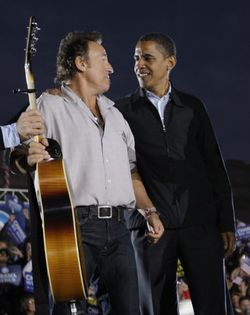 Springsteen and obama in cleveland