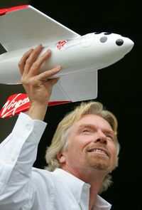 Richard.Branson with spaceplane