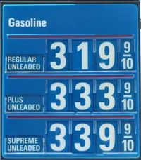 Gasoline_price over 3 dollars