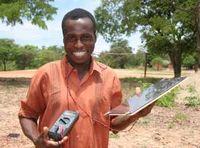 Solaraid 2008 solar panel in malawi