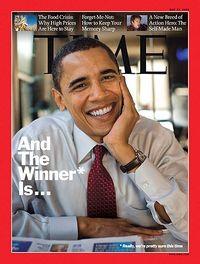 Barack obama wins time cover