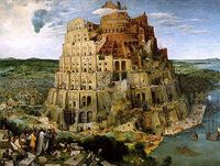 Tower of Babel by Brueghel from wikipedia