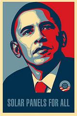 Obama solar panels for all