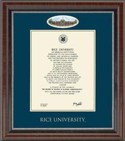 Rice diploma in frame