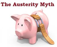 Austerity myth piggy bank