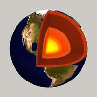 Earth cutaway