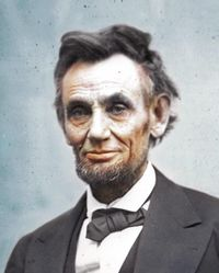 Abraham lincoln colorized