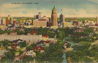 San antonio skyline 1943