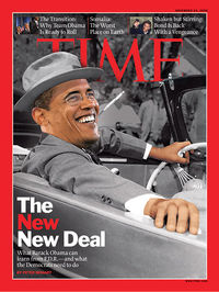 Obama as fdr time cover