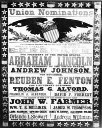 1864 Lincoln-Johnson poster