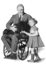 Fdr in wheelchair with girl
