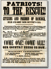 Civil war recruitment poster ohio