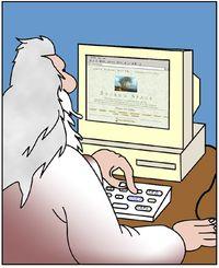 God writing a blog