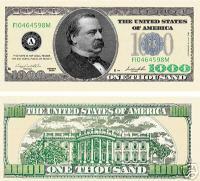Thousand dollar bill