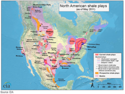 2. North American Shale plays