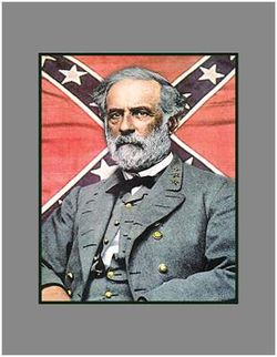 Robert e lee with batteflag