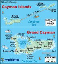 Cayman islands map
