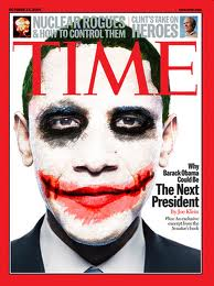 Obama as the joker time cover