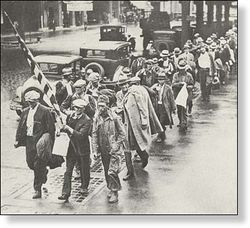 Great depression protestors