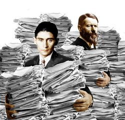 Bureaucrats with paper and kafka