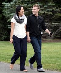 Zuckerberg and wife