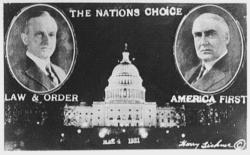 Harding coolidge inaugural
