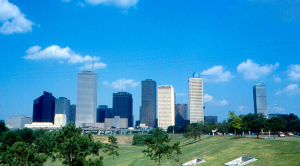 Houston skyline 1978
