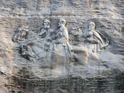 Stone mountain memorial closeup_001