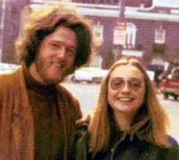 Bill and hillary as hippies