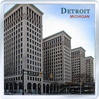 Acrylic-fridge-magnet-usa-michigan-detroit-old-gm-building