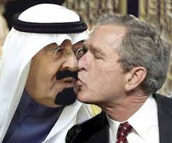 Bush kissing saudi king