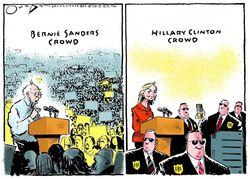 Sanders clinton cartoon