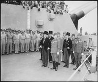 Japanese surrender on the USS Missouri