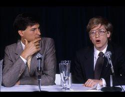 Steve jobs and bill gates 1980s