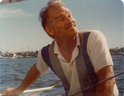 Fred Blankenhorn sailing summer 1979