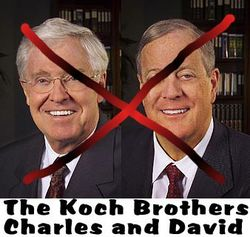 Koch borhters xed in red