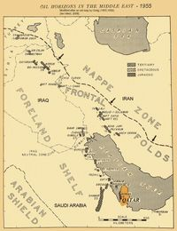 1955 middle east oil map