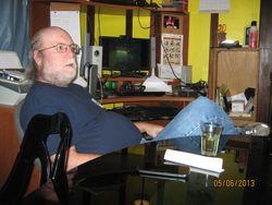 Dana still at the dinner table