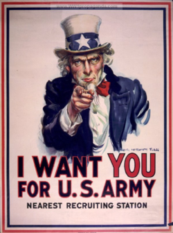 Wwi recruiting poster