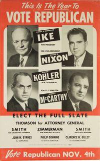 1952 wisconsin gop poster