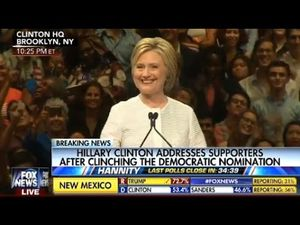 Hillary clinton wins nominatoin