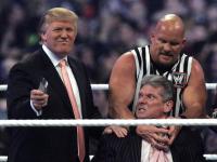 Trump at wwe