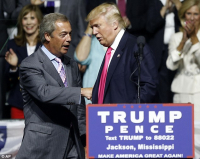 Nigel farage at trump rally