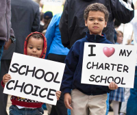 Charter schools rally